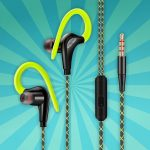 Sport Hoofdtelefoon Headset Met Microfoon Oorhaak Voor Mobiele Telefoon