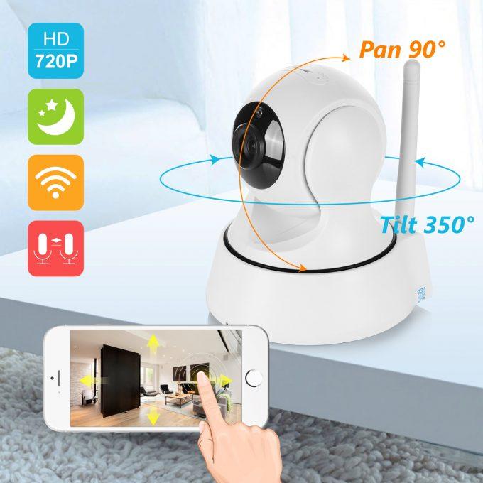 Videobewaking Wi-Fi  Beveiligingscamera Wi-Fi 720 P Nachtzicht
