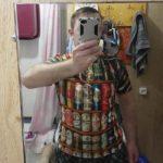 Bier blikjes shirt