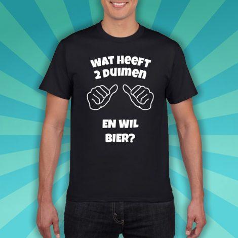 Bier t-shirt wie wilt bier