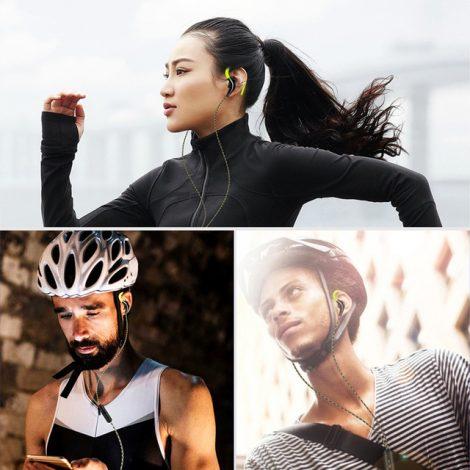 Sport hoofdtelefoon Headset Met Microfoon Oorhaak en Super Bass