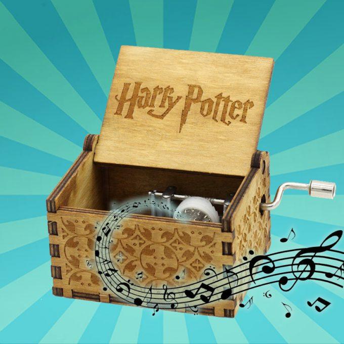 Muziekdoos Harry potter gesneden hout verjaardagscadeau geschenk