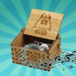 star w muziekdoos gesneden hout verjaardagscadeau geschenk