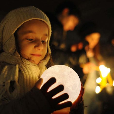 Nachtlamp LED Maan Licht Woondecoratie ook voor Baby of Kids