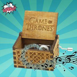 muziekdoos game of thrones gesneden hout verjaardagscadeau geschenk