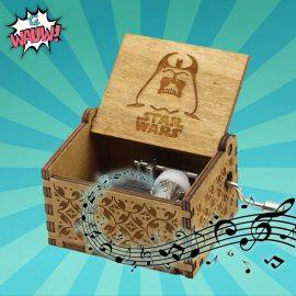 Star wars muziekdoos hout verjaardagscadeau geschenk