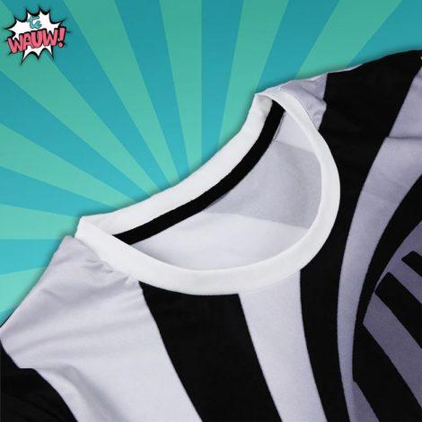Grappig shirt zwart wit hypnotisch