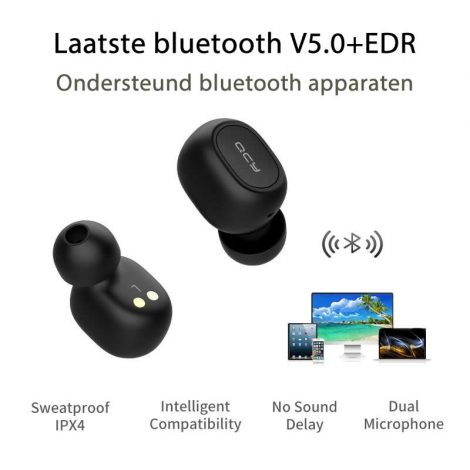 Draadloze oordopjes 3D-Stereo Waterdichte Earpods met Dubbele Microfoon en Oplaaddoos